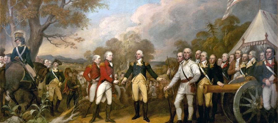 Surrender of General Burgoyne Painting