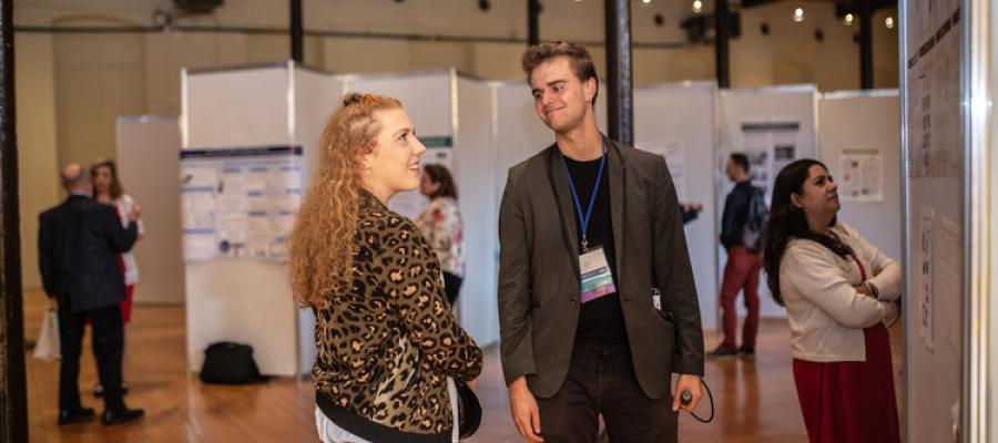 people discussing at the 2019 Social New Venture Challenge